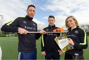 2 April 2017; GAA Healthy Club Ulster Roadshow- inspiring GAA clubs to become hubs for health.  Pictured at the GAA Ulster Healthy Clubs Roadshow is (l-r) Michael Fennelly, hurler with the Kilkenny senior team, Philly McMahon, Gaelic footballer for Dublin and Ballymun Kickhams, and Anna Geary, former Cork Camogie captain. The GAA Healthy Clubs Project (HCP), in partnership with Irish Life and Healthy Ireland, aims to inspire and empower more GAA clubs to support their members and communities in pursuit of better physical, social, and mental wellbeing.  The Ulster Healthy Club Roadshow is the final part of a series of roadshows that took place across the country since January 2017. For more information about the GAA's HCP visit: www.gaa.ie/community. Follow: @officialgaa or Like: www.facebook.com/officialgaa/    GAA Healthy Club Roadshow - Ulster at Jordanstown Ulster University, in Belfast. Photo by Oliver McVeigh/Sportsfile