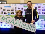 1 April 2017; GAA Healthy Club Ulster Roadshow- inspiring GAA clubs to become hubs for health.  Pictured at the GAA Ulster Healthy Clubs Roadshow is (l-r) Rita Keenan of Derrynoose GAA club and Michael Fennelly, hurler with the Kilkenny senior team. The GAA Healthy Clubs Project (HCP), in partnership with Irish Life and Healthy Ireland, aims to inspire and empower more GAA clubs to support their members and communities in pursuit of better physical, social, and mental wellbeing.  The Ulster Healthy Club Roadshow is the final part of a series of roadshows that took place across the country since January 2017. For more information about the GAA's HCP visit: www.gaa.ie/community. Follow: @officialgaa or Like: www.facebook.com/officialgaa/ GAA Healthy Club Roadshow - Ulster at Jordanstown Ulster University, in Belfast. Photo by Oliver McVeigh/Sportsfile