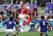 18 September 2011; George North, Wales, catches the ball whilst playing Samoa. 2011 Rugby World Cup, Wales v Samoa, Pool D match, Waikato Stadium, Hamilton, New Zealand. Picture credit: David Rowland / SPORTSFILE