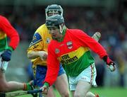 14 April 2002; Gary Doyle, Carlow . Hurling. Picture credit; Aoife Rice / SPORTSFILE
