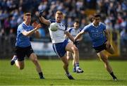 2 April 2017; Kieran Hughes of Monaghan in action against Ciaran Reddin, left, and David Byrne of Dublin during the Allianz Football League Division 1 Round 7 match between Monaghan and Dublin at St. Tiernach's Park in Clones, Co Monaghan. Photo by Ray McManus/Sportsfile