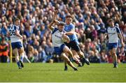 2 April 2017; Fintan Kelly of Monaghan in action against Paul Flynn of Dublin during the Allianz Football League Division 1 Round 7 match between Monaghan and Dublin at St. Tiernach's Park in Clones, Co Monaghan. Photo by Philip Fitzpatrick/Sportsfile