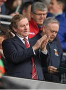 2 April 2017; An Taoiseach Enda Kenny T.D. prior to the Allianz Football League Division 1 Round 7 match between Mayo and Donegal at Elverys MacHale Park in Castlebar, Mayo. Photo by Stephen McCarthy/Sportsfile