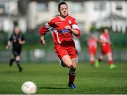 2 April 2017; Emily Whelan of Shelbourne LFC in action during the FAI Women's U16 Cup Final match between Shelbourne LFC and Enniskerry FC at Home Farm FC in Whitehall, Dublin. Photo by Stephen McMahon/Sportsfile