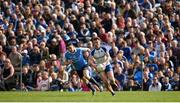 2 April 2017; Fintan Kelly of Monaghan in action against Paddy Andrews of Dublin during the Allianz Football League Division 1 Round 7 match between Monaghan and Dublin at St. Tiernach's Park in Clones, Co Monaghan. Photo by Philip Fitzpatrick/Sportsfile