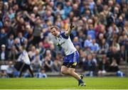 2 April 2017; Jack McCarron of Monaghan celebrates after scoring his side's first goal during the Allianz Football League Division 1 Round 7 match between Monaghan and Dublin at St. Tiernach's Park in Clones, Co Monaghan. Photo by Philip Fitzpatrick/Sportsfile