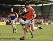 2 April 2017; Niall Grimley of Armagh in action against Brian Fox of Tipperary during the Allianz Football League Division 3 Round 7 match between Armagh and Tipperary at the Athletic Grounds in Armagh. Photo by Oliver McVeigh/Sportsfile