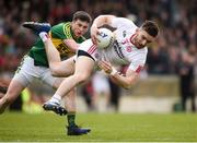 2 April 2017; Pádraig Hampsey of Tyrone in action against Fionn Fitzgerald of Kerry during the Allianz Football League Division 1 Round 7 match between Kerry and Tyrone at Fitzgerald Stadium in Killarney, Co Kerry.  Photo by Cody Glenn/Sportsfile