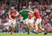 2 April 2017; David Dempsey of Limerick in action against Mark Coleman, left, and Dean Brosnan of Cork during the Allianz Hurling League Division 1 Quarter-Final match between Cork and Limerick at Páirc Uí Rinn in Cork. Photo by Eóin Noonan/Sportsfile