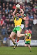 2 April 2017; Jason McGee of Donegal in action against Tom Parsons of Mayo during the Allianz Football League Division 1 Round 7 match between Mayo and Donegal at Elverys MacHale Park in Castlebar, Co Mayo. Photo by Stephen McCarthy/Sportsfile