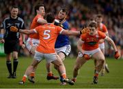 2 April 2017; Kevin O'Halloran of Tipperary in action against Aidan Forker, Niall Rowland and Charlie Vernon of Armagh during the Allianz Football League Division 3 Round 7 match between Armagh and Tipperary at the Athletic Grounds in Armagh. Photo by Oliver McVeigh/Sportsfile