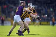 2 April 2017; TJ Reid of Kilkenny in action against James Breen of Wexford  during the Allianz Hurling League Division 1 Quarter-Final match between Kilkenny and Wexford at Nowlan Park in Kilkenny. Photo by Brendan Moran/Sportsfile