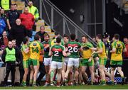 2 April 2017; Mayo and Donegal players tussle off the ball during the Allianz Football League Division 1 Round 7 match between Mayo and Donegal at Elverys MacHale Park in Castlebar, Co Mayo. Photo by Stephen McCarthy/Sportsfile
