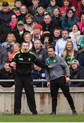 2 April 2017; Donegal manager Rory Gallagher and selector Maxi Curran, right, during the Allianz Football League Division 1 Round 7 match between Mayo and Donegal at Elverys MacHale Park in Castlebar, Co Mayo. Photo by Stephen McCarthy/Sportsfile