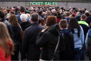 2 April 2017; Supporters queue to purchase tickets prior to the Allianz Football League Division 1 Round 7 match between Mayo and Donegal at Elverys MacHale Park in Castlebar, Mayo. Photo by Stephen McCarthy/Sportsfile