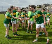 2 April 2017; Bryan Sheehan, right, of Kerry shakes hands with team-mate Ronan Shanahan of Kerry following the Allianz Football League Division 1 Round 7 match between Kerry and Tyrone at Fitzgerald Stadium in Killarney, Co Kerry. Photo by Cody Glenn/Sportsfile