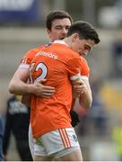 2 April 2017; A dejected Aidan Forker, behind, and Rory Grugan of Armagh after the Allianz Football League Division 3 Round 7 match between Armagh and Tipperary at the Athletic Grounds in Armagh. Photo by Oliver McVeigh/Sportsfile