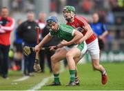 2 April 2017; Mike Casey of Limerick in action against Alan Cadogan of Cork during the Allianz Hurling League Division 1 Quarter-Final match between Cork and Limerick at Páirc Uí Rinn in Cork. Photo by Eóin Noonan/Sportsfile