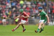 2 April 2017; Alan Cadogan of Cork in action against Mike Casey of Limerick during the Allianz Hurling League Division 1 Quarter-Final match between Cork and Limerick at Páirc Uí Rinn in Cork. Photo by Eóin Noonan/Sportsfile