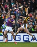 2 April 2017; Lee Chin of Wexford in action against Cillian Buckley of Kilkenny during the Allianz Hurling League Division 1 Quarter-Final match between Kilkenny and Wexford at Nowlan Park in Kilkenny. Photo by Brendan Moran/Sportsfile