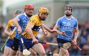 2 April 2017; Cian Dillon of Clare in action against Ryan O'Dwyer, left, and Donal Burke of Dublin during the Allianz Hurling League Division 1 Relegation Play-Off match between Clare and Dublin at Cusack Park in Ennis, Co Clare. Photo by Diarmuid Greene/Sportsfile