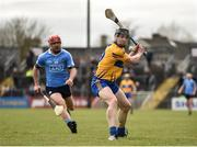 2 April 2017; Tony Kelly of Clare in action against Ryan O'Dwyer of Dublin during the Allianz Hurling League Division 1 Relegation Play-Off match between Clare and Dublin at Cusack Park in Ennis, Co Clare. Photo by Diarmuid Greene/Sportsfile