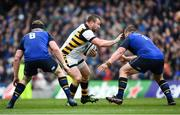 1 April 2017; Matt Mullan of Wasps in action against Dan Leavy, left, and Jack McGrath of Leinster during the European Rugby Champions Cup Quarter-Final match between Leinster and Wasps at Aviva Stadium in Dublin. Photo by Ramsey Cardy/Sportsfile