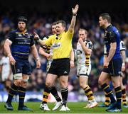 1 April 2017; Referee Nigel Owens during the European Rugby Champions Cup Quarter-Final match between Leinster and Wasps at Aviva Stadium in Dublin. Photo by Ramsey Cardy/Sportsfile