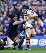 1 April 2017; Jimmy Gopperth of Wasps is tackled by Sean O'Brien of Leinster during the European Rugby Champions Cup Quarter-Final match between Leinster and Wasps at Aviva Stadium in Dublin. Photo by Ramsey Cardy/Sportsfile