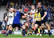 1 April 2017; James Haskell of Wasps is tackled by Michael Bent of Leinster during the European Rugby Champions Cup Quarter-Final match between Leinster and Wasps at Aviva Stadium in Dublin. Photo by Ramsey Cardy/Sportsfile