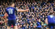 1 April 2017; Leinster supporters during the European Rugby Champions Cup Quarter-Final match between Leinster and Wasps at Aviva Stadium in Dublin. Photo by Ramsey Cardy/Sportsfile