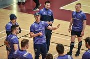 3 April 2017; Tyler Bleyendaal of Munster speaks to team-mates during squad training at the University of Limerick Arena in Limerick. Photo by Diarmuid Greene/Sportsfile