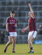 1 April 2017; Kieran Molloy, right, and Eric Lee of Galway during the EirGrid Connacht GAA Football U21 Championship Final match between Galway and Sligo at Markievicz Park in Sligo.  Photo by David Fitzgerald/Sportsfile