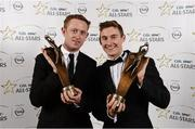 8 November 2013; Kerry footballers Colm Cooper, left, and James O'Donoghue with their 2013 GAA GPA All-Star award, sponsored by Opel, at the 2013 GAA GPA All-Star awards in Croke Park, Dublin. Picture credit: Paul Mohan / SPORTSFILE