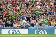 21 August 2011; Colm Cooper, Kerry, celebrates in front of Kerry supporters, after scoring his side's goal. GAA Football All-Ireland Senior Championship Semi-Final, Mayo v Kerry, Croke Park, Dublin. Picture credit: Brendan Moran / SPORTSFILE
