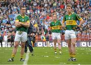 18 September 2011; Dejected Kerry captain Colm Cooper, centre, with Brian McGuire, left, and Donnchadh Walsh, right, after the game. GAA Football All-Ireland Senior Championship Final, Kerry v Dublin, Croke Park, Dublin. Picture credit: Paul Mohan / SPORTSFILE