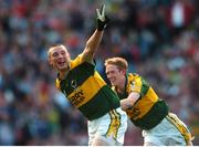 16 September 2007; Kerry's Kieran Donaghy, left, celebrates with team-mate Colm Cooper after scoring his second and his side's third goal. Bank of Ireland All-Ireland Senior Football Championship Final, Kerry v Cork, Croke Park, Dublin. Picture credit; Brian Lawless / SPORTSFILE