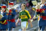 20 August 2006; Kerry captain Colm Cooper walks behind the Artane Band during the pre-match parade. Bank of Ireland All-Ireland Senior Football Championship Semi-Final, Kerry v Cork, Croke Park, Dublin. Picture credit: Brendan Moran / SPORTSFILE