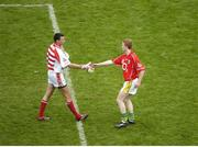 20 August 2006; Colm Cooper, the Kerry captain, is congratulated by Cork goalkeeper Alan Quirke. Bank of Ireland All-Ireland Senior Football Championship Semi-Final, Kerry v Cork, Croke Park, Dublin. Picture credit: Ray McManus / SPORTSFILE