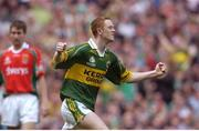 26 September 2004; Colm Cooper, Kerry, celebrates after scoring his sides first goal. Bank of Ireland All-Ireland Senior Football Championship Final, Kerry v Mayo, Croke Park, Dublin. Picture credit; Brian Lawless / SPORTSFILE