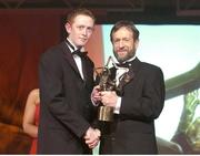 26 November 2004; Colm Cooper of Kerry, is presented with his All-Star award by Sean Kelly, President of the GAA, at the 2004 Vodafone GAA All-Star Awards. Citywest, Dublin. Picture credit; Brendan Moran / SPORTSFILE