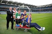 20 September 2011; Alan Smullen, General manager, Croke Park Hotel, Padraic Joyce, Killererin, Galway,  Michael Murphy, Glenswilly, Co. Donegal, Ryan O'Dwyer, Kilmacud Crokes, Dublin, and Ronan Curran, St Finbarr's, Cork, at the Croke Park Hotel and Croke Park Conference Centre GAA Club Support Programme launch. Croke Park, Dublin. Picture credit: Ray McManus / SPORTSFILE