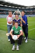20 September 2011; Padraic Joyce, Killererin, Galway, Michael Murphy, Glenswilly, Co. Donegal, Ryan O'Dwyer, Kilmacud Crokes, Dublin, and Ronan Curran, St Finbarr's, Cork, at the Croke Park Hotel and Croke Park Conference Centre GAA Club Support Programme launch. Croke Park, Dublin. Picture credit: Ray McManus / SPORTSFILE