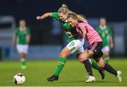 4 April 2017; Saoirse Noonan of Republic of Ireland in action against Samantha Kerr of Scotland during the UEFA Women's Under 19 European Championship Elite Round match between Republic of Ireland and Scotland at Market's Field in Limerick. Photo by Eóin Noonan/Sportsfile