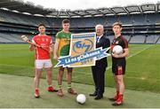 5 April 2017; Lúthchleas Gael Aogán Ó Fearghail with from left, David Treacy of Dublin and Cuala, Michael Quinlivan of Tipperary and Clonmel Commercials and Anthony Williams of Louth and Dreadnots in attendance at the Lá na gClubanna 2017 Launch at Croke Park in Dublin. Photo by Matt Browne/Sportsfile