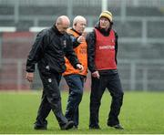 1 April 2017; The Antrim management team of Terence Sambo McNaughton, Gary O'Kane and Dominic McKinley during the Allianz Hurling League Division 2A Final match between Antrim and Carlow at Páirc Esler, in Newry. Photo by Oliver McVeigh/Sportsfile