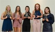 7 April 2017; UCC players, from left, Róisín Phelan, Eimear Meaney, Doireann O'Sullivan, Niamh Cotter and Marie Ambrose after receiving their LGFA HEC All Star Awards at Croke Park Hotel on Friday, April 7th. The LGFA HEC All Star Awards recognised the best performers from the O'Connor Cup weekend recently hosted by GMIT at the Ballyhaunis Centre of Excellence and Elvery's McHale Park. The Croke Park Hotel in Dublin, Jones' Road, Dublin 3. Photo by Piaras Ó Mídheach/Sportsfile
