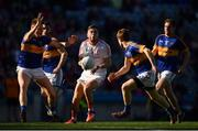 8 April 2017; Andy McDonnell of Louth in action against Tipperary players, from left, Liam Casey and Brian Fox during the Allianz Football League Division 3 Final match between Louth and Tipperary at Croke Park in Dublin. Photo by Brendan Moran/Sportsfile