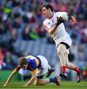 8 April 2017; Pauric Smith of Louth in action against Brian Fox of Tipperary during the Allianz Football League Division 3 Final match between Louth and Tipperary at Croke Park in Dublin. Photo by Brendan Moran/Sportsfile