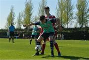 8 April 2017; Danny McGlynn of Derry City in action against Eoin McPhillips of Shelbourne during the SSE Airtricity U17 League match between Shelbourne and Derry City at AUL Complex in Clonshaugh, Dublin. Photo by Sam Barnes/Sportsfile